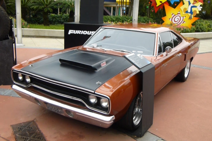 furious 7 screen used cars on display at universal studios florida orlando parkstop. Black Bedroom Furniture Sets. Home Design Ideas