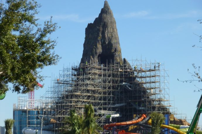 Volcano Bay Construction Update Water Slide Testing And