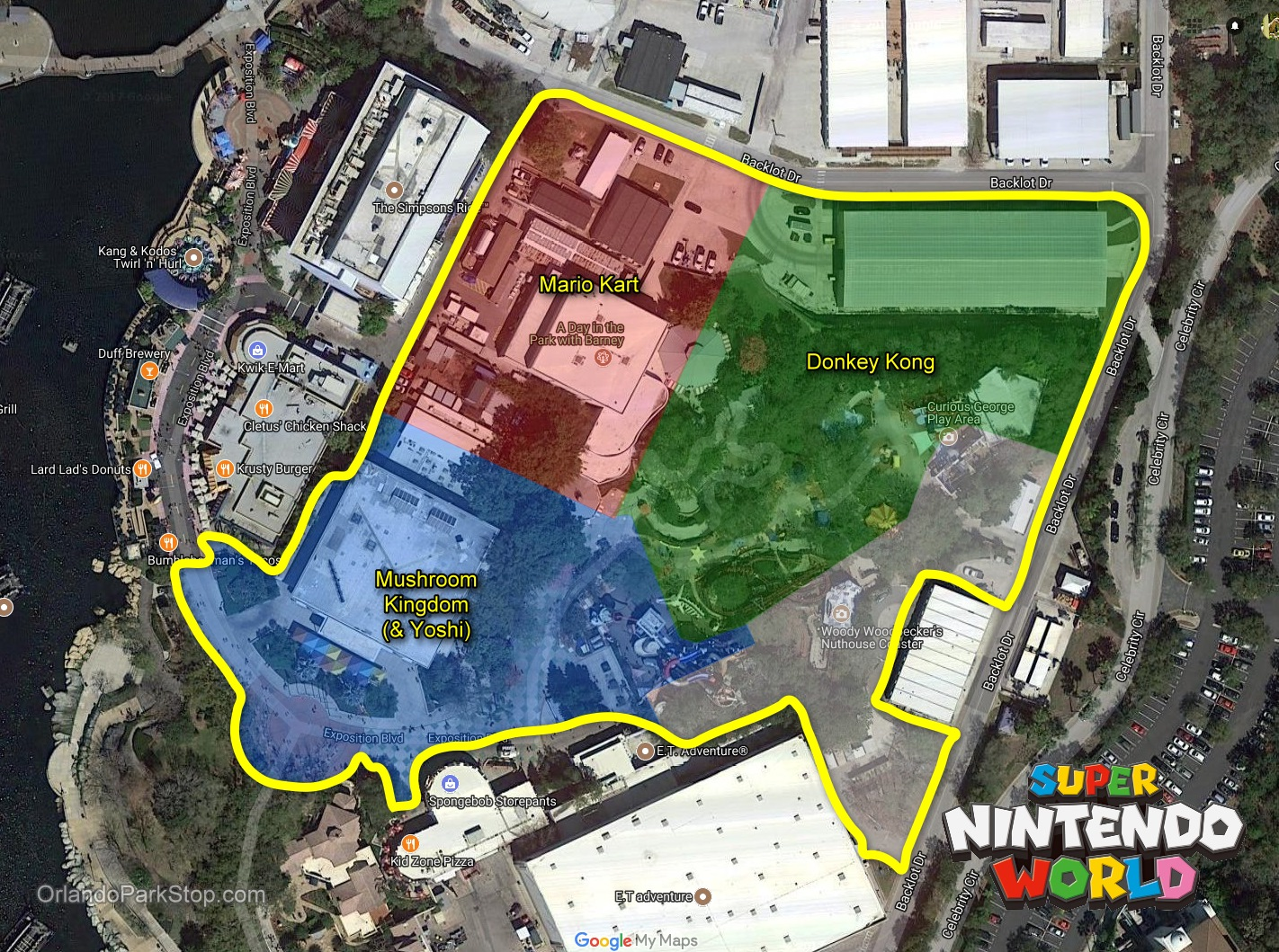 Permits Show Super Nintendo World Taking Over KidZone at Universal