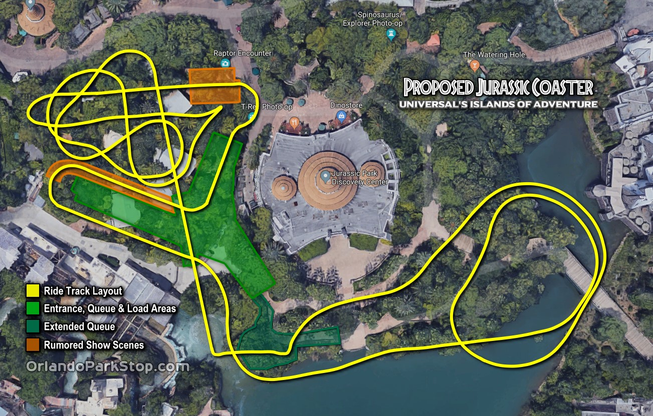 Juric Park Roller Coaster Update and Track Layout Revealed for ... on universal islands of adventure map 2014, universal islands of adventure tickets, universal studios 1990, universal studios logo, universal studios jaws ride, universal studios island of adventures christmas, universal studios discount coupons, universal studios poseidon's fury, universal islands of adventure directions, universal studios brochure, universal studios 1999, walt disney world map, universal studios horror nights tram, universal studios roller coaster accident, universal studios adventure island rides, adventure park map, universal island of adventure florida, universal studios orlando, universal islands of adventure toon lagoon, universal studios marvel characters,