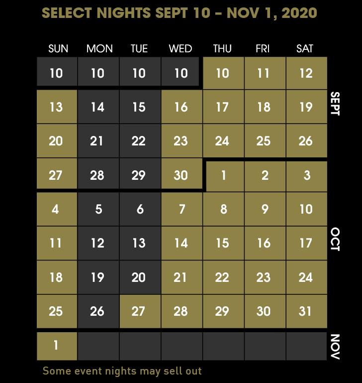 Halloween Horror Nights 2020 Calendar Halloween Horror Nights 2020 to Celebrate 30 Years of Fear at
